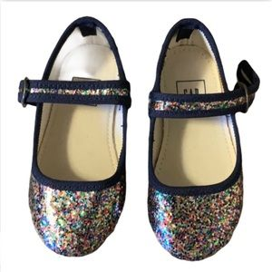 Gap Sparkly Rainbow Flats - Toddler's Size 5